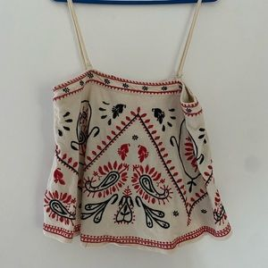 Free People singlet or strapless top. Size M
